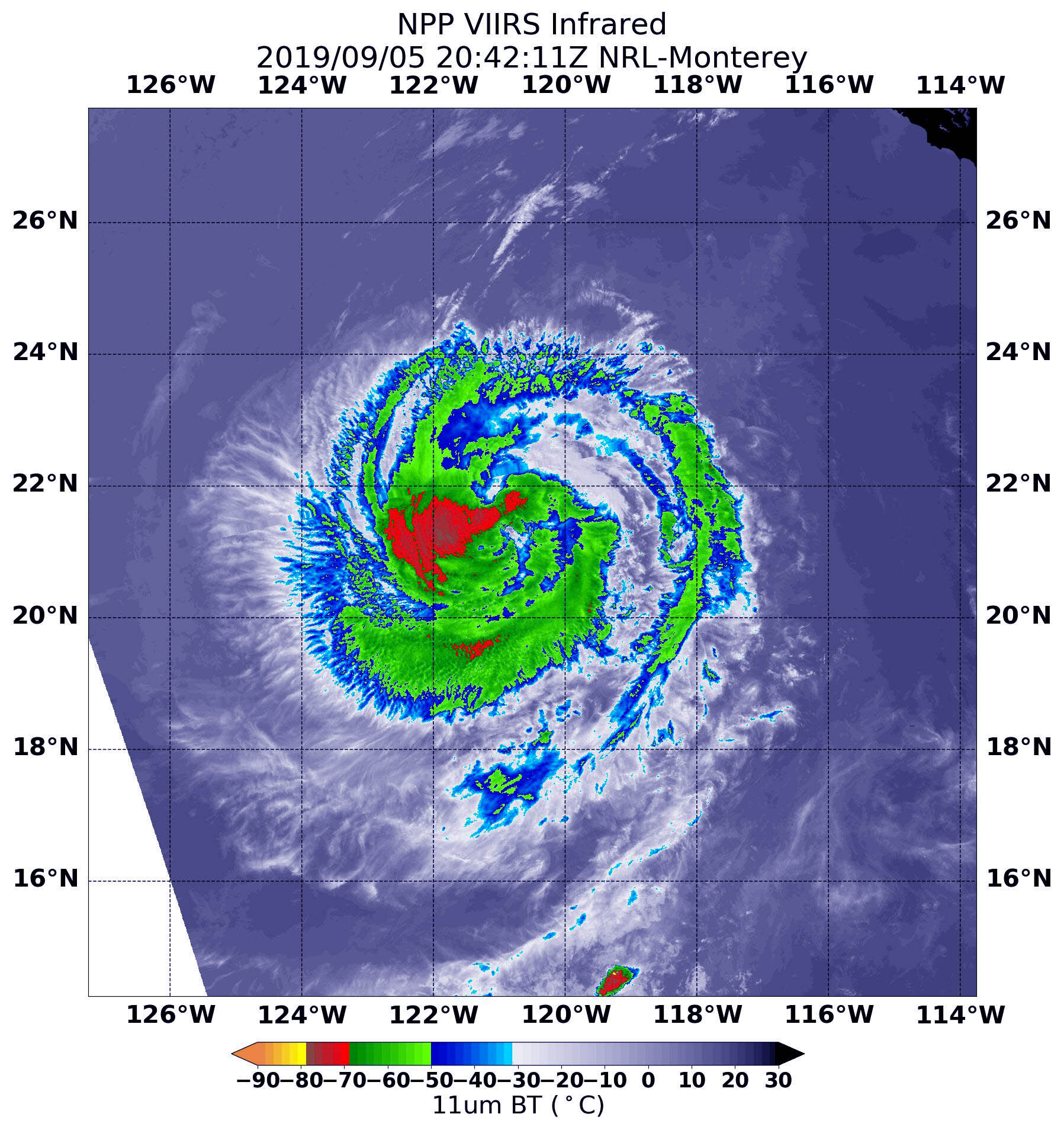 NASA finds a weaker hurricane Juliette