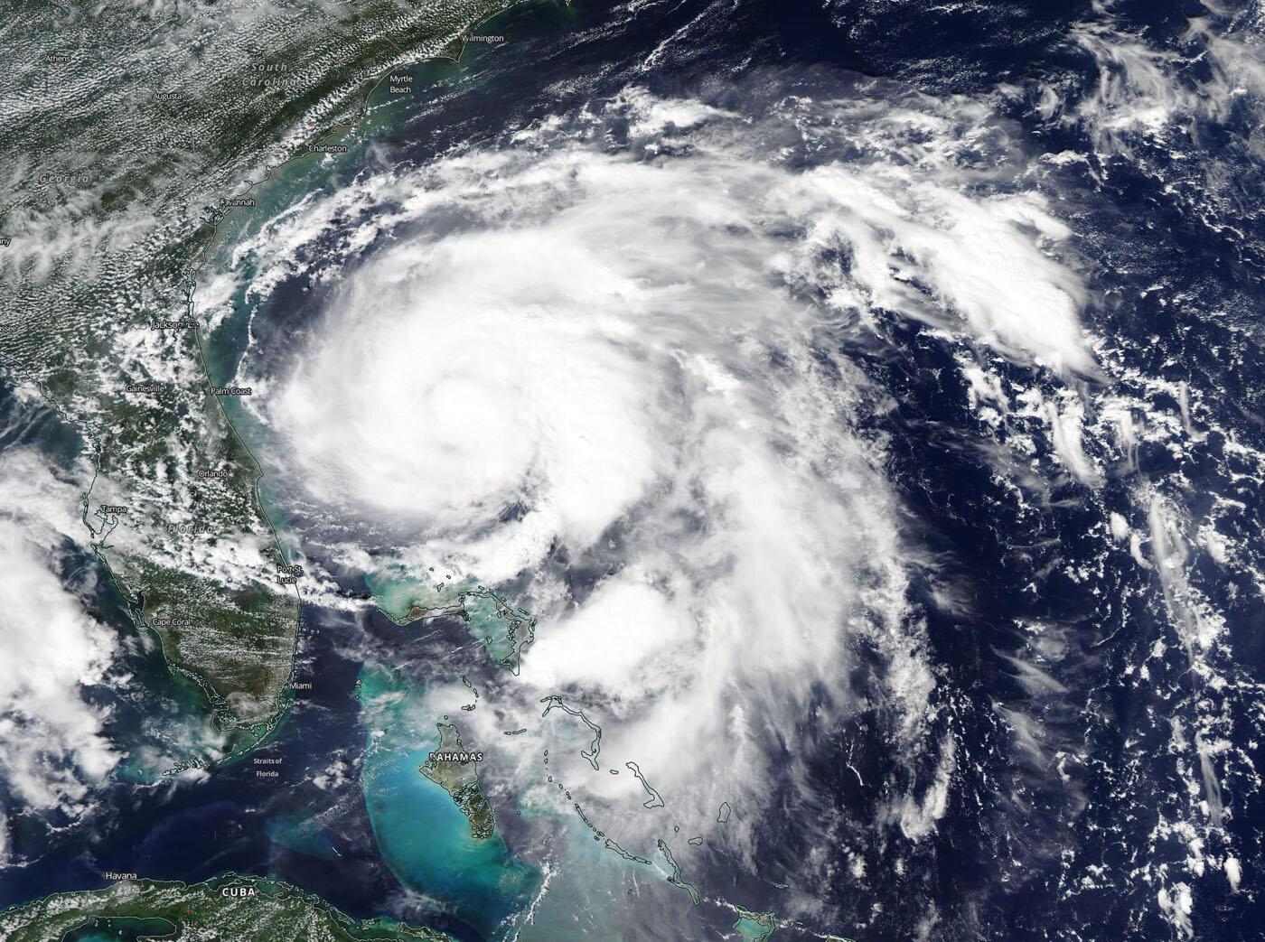 NASA finds Humberto strengthening off the Florida Coast
