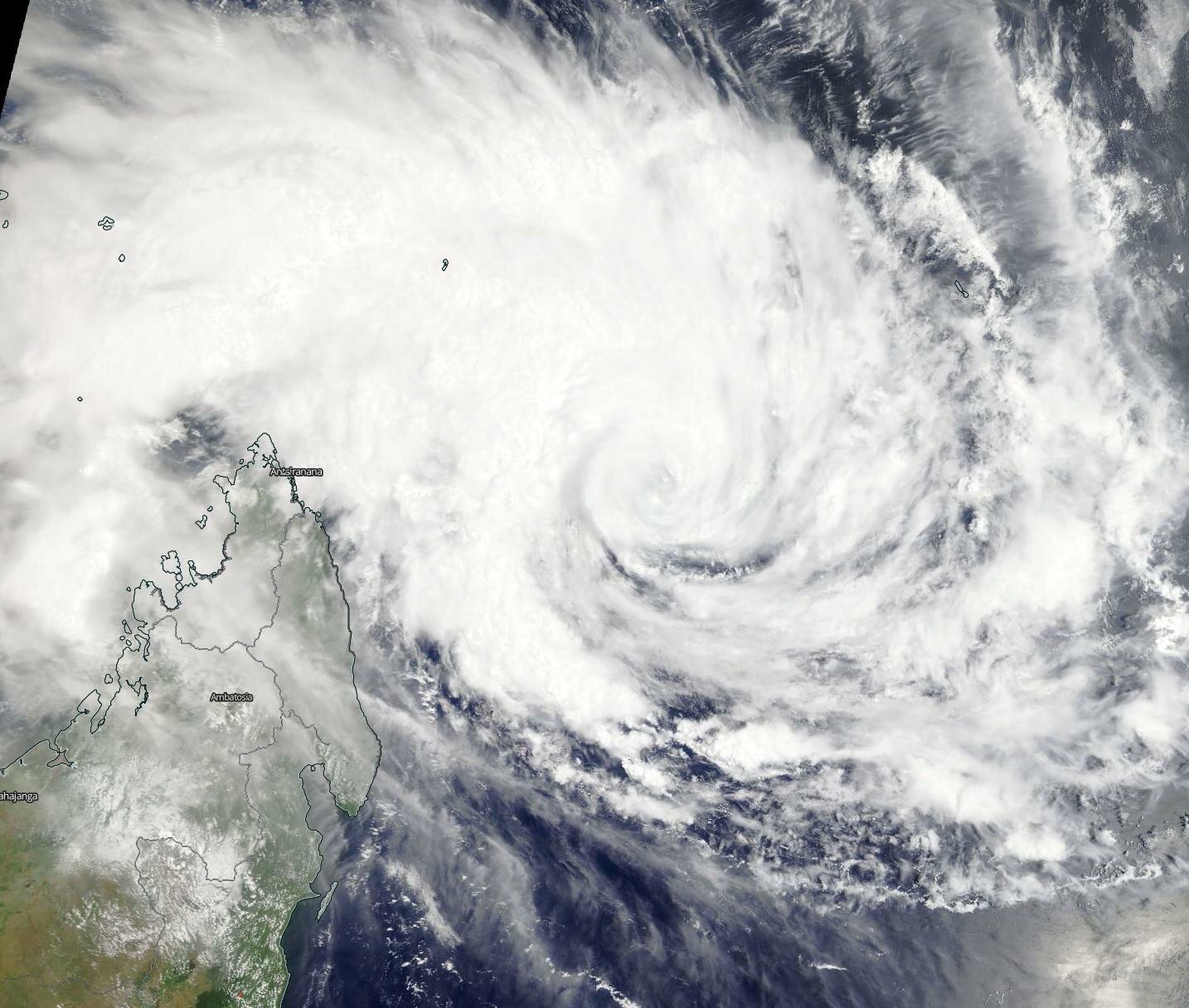 NASA satellite shows Tropical Cyclone Gelena near Madagascar