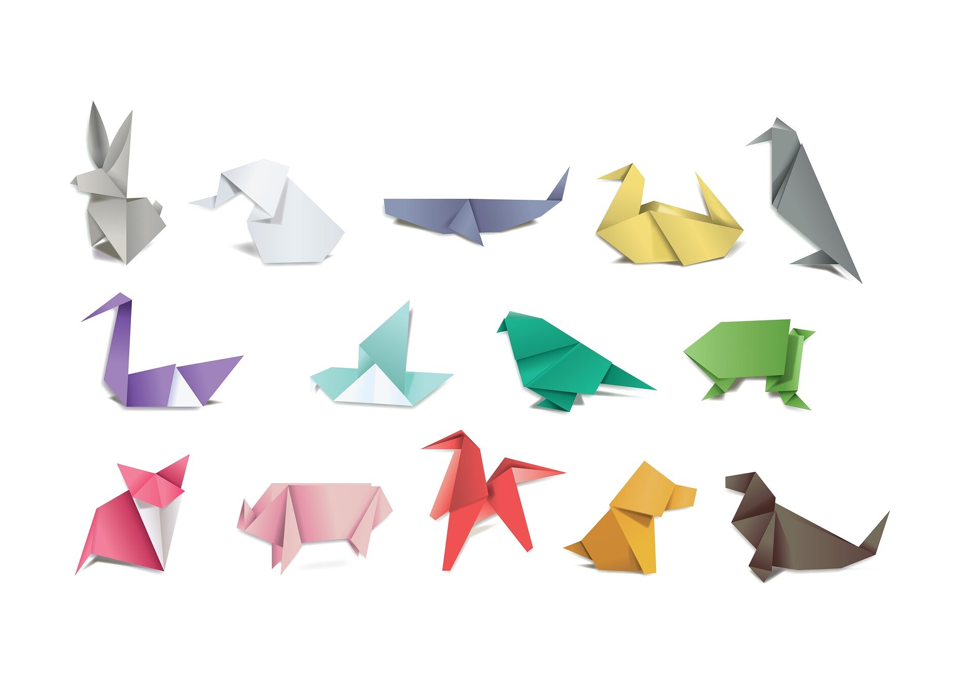 Origami Animals Fresh Water - Download Free Vectors, Clipart ... | 1357x1920