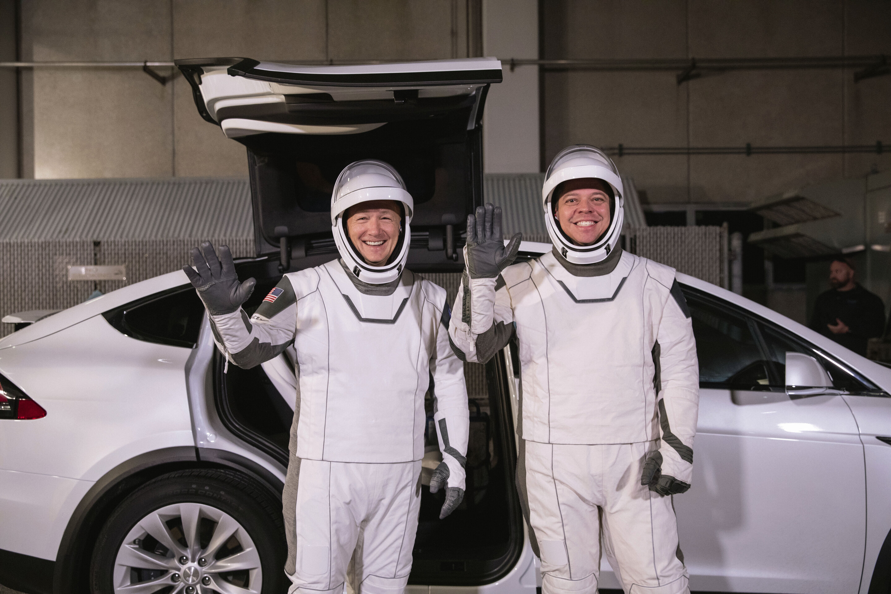 New outfit for SpaceX Launch, expected on 30.05.2020. Copyright: Kim Shiflett/NASA via AP