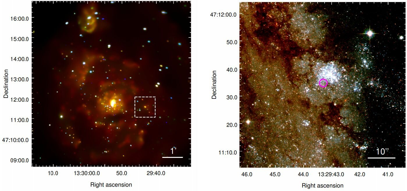First candidate for an extragalactic planet identified