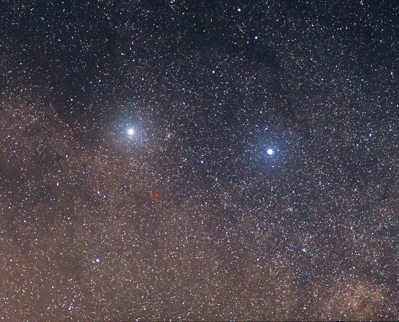 An Earth-like stellar wind for Proxima Centauri c