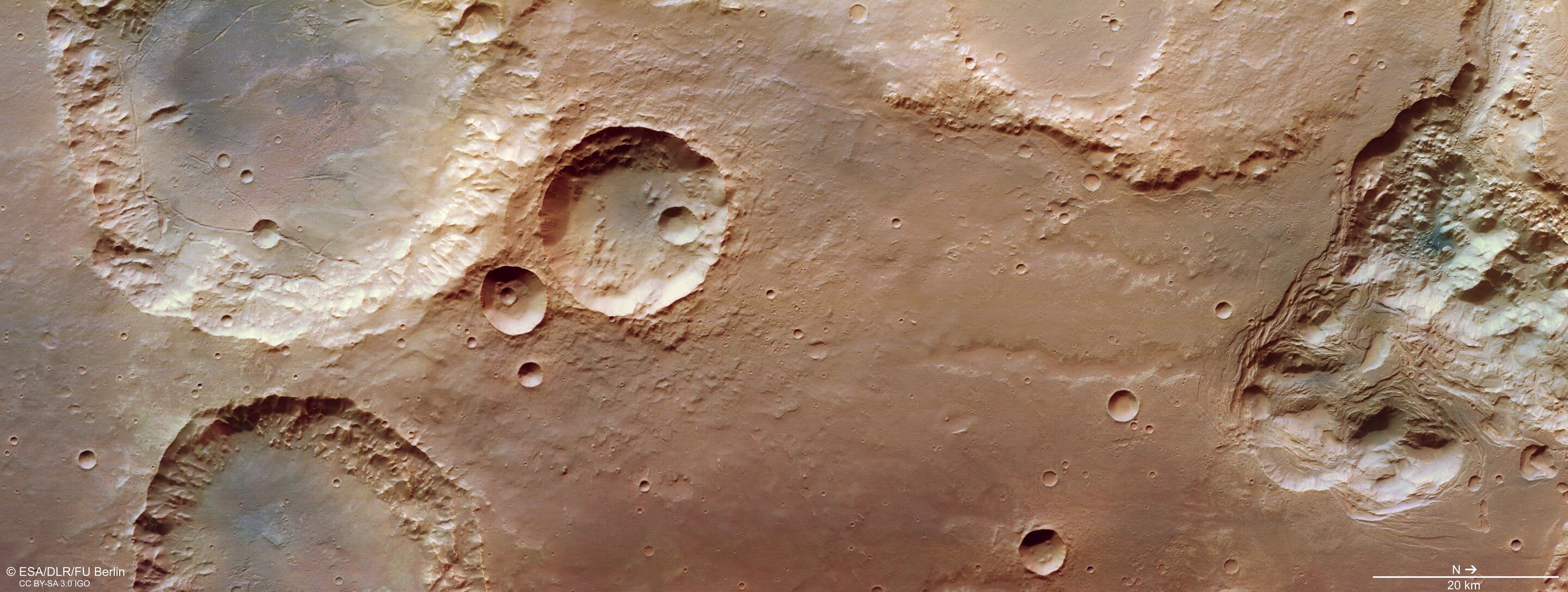Craters and collapse on Mars