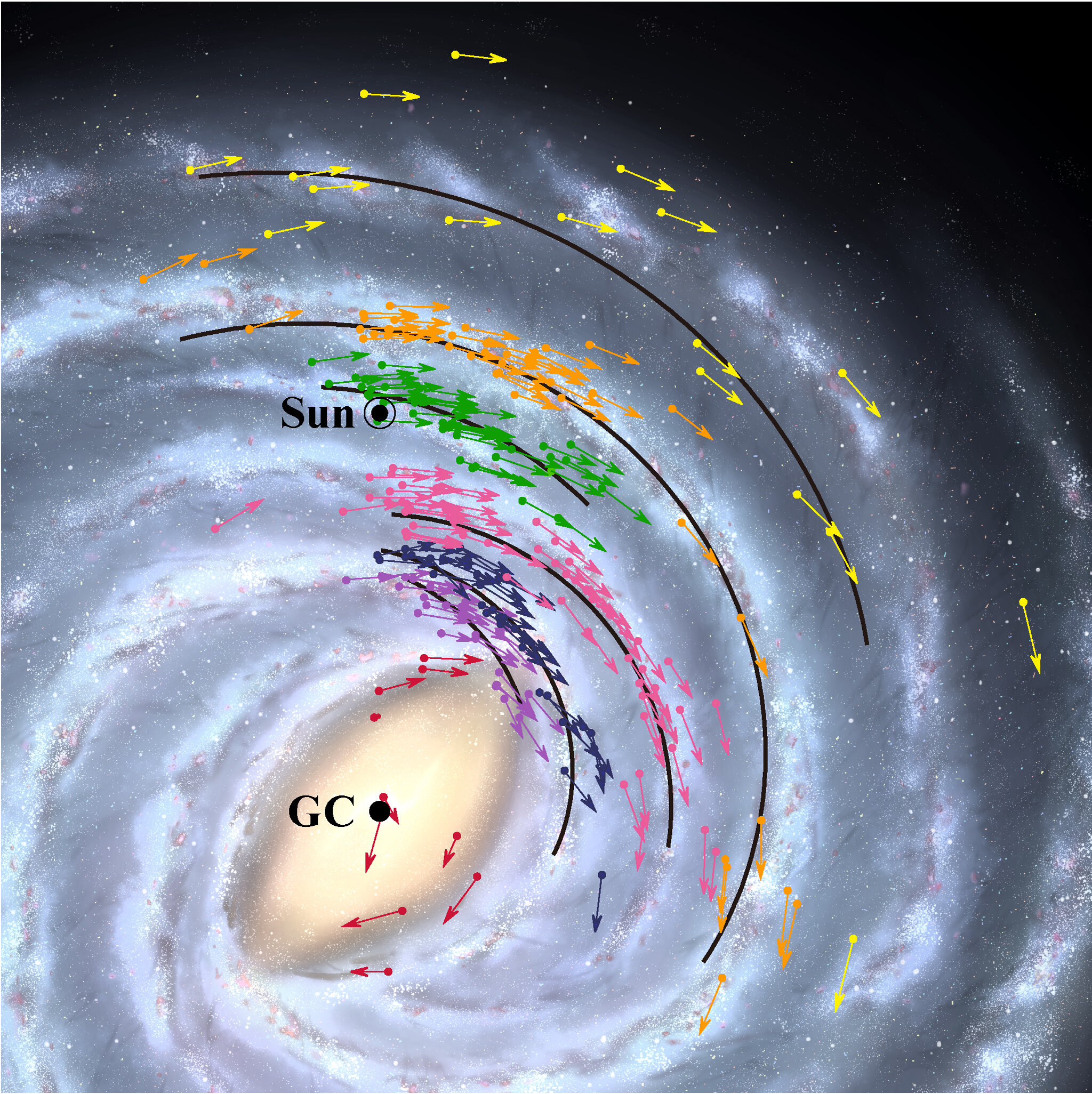 Earth faster, closer to black hole in new map of galaxy