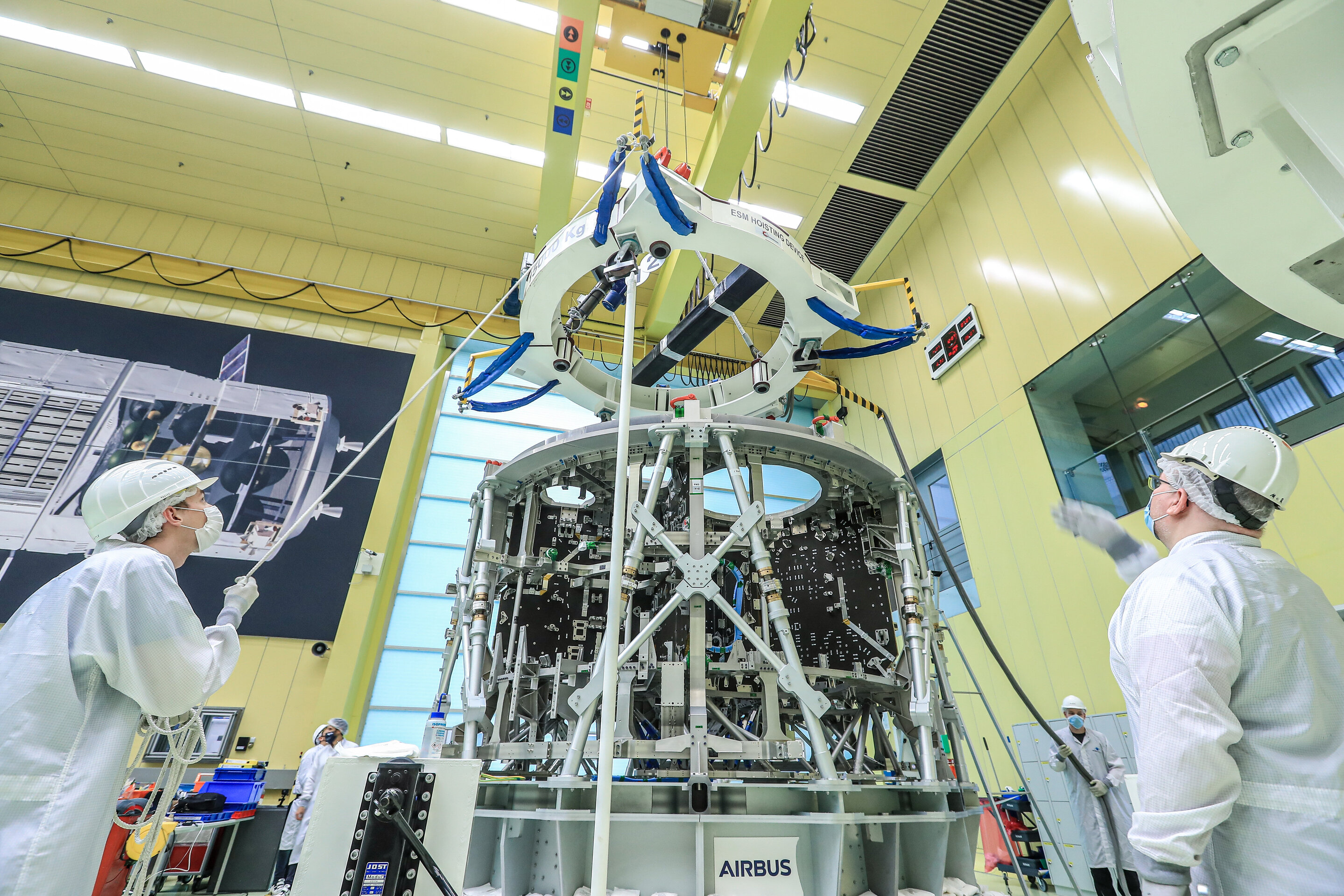 European service module structure for moon landing arrives in Bremen