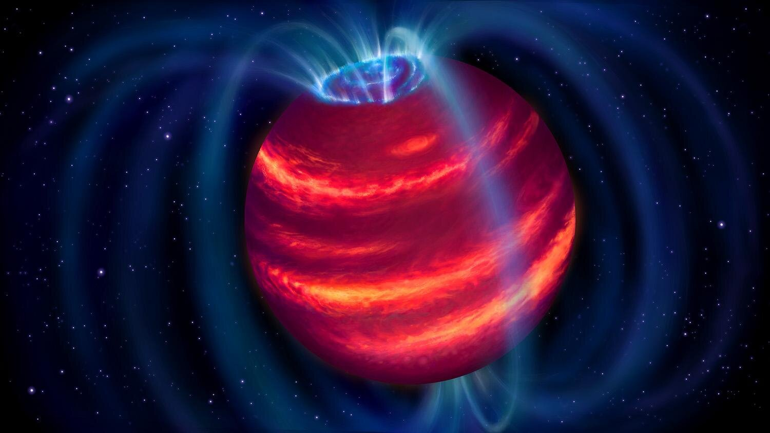 Faint super-planet discovered by radio telescope