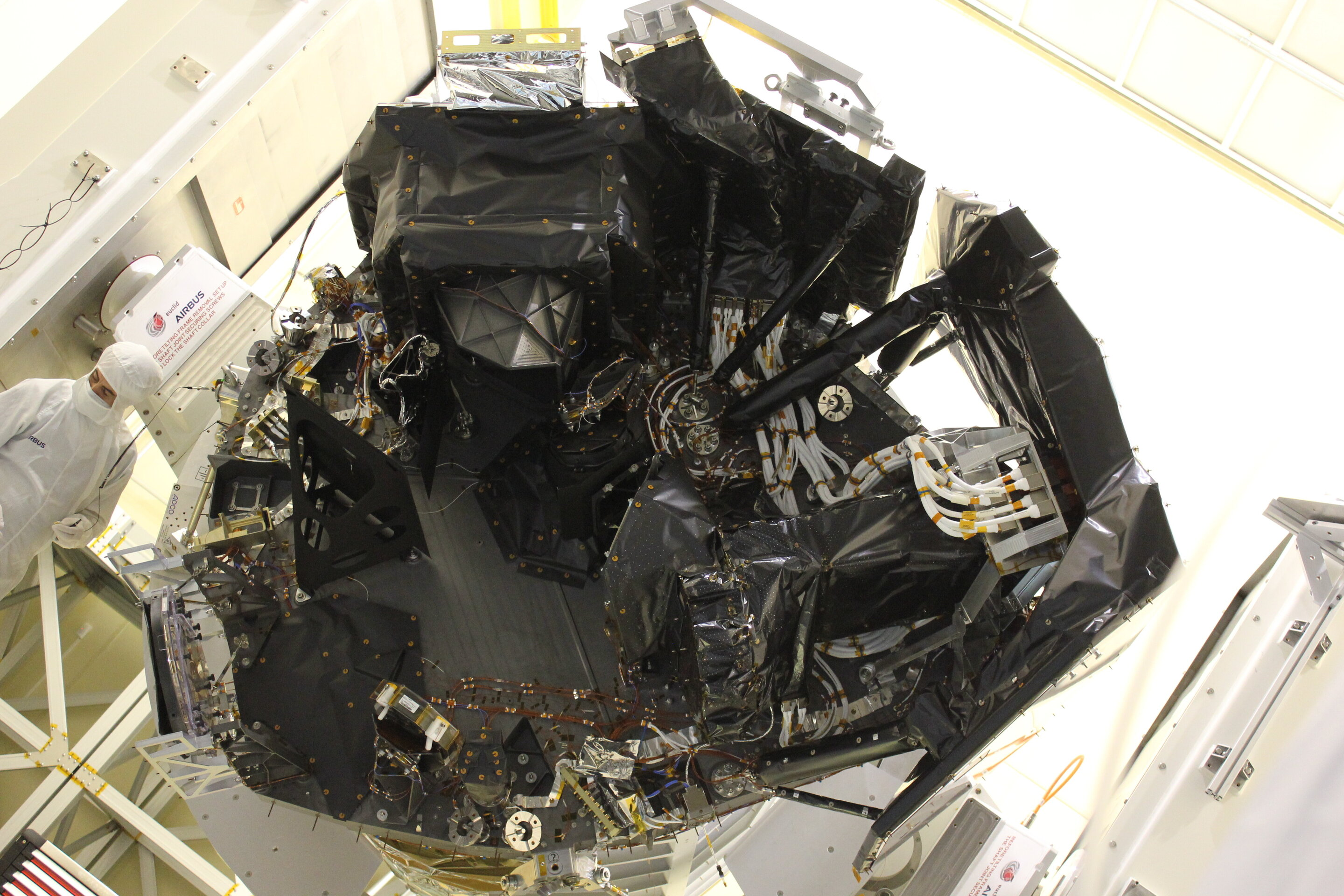 Instruments installed on Euclid spacecraft