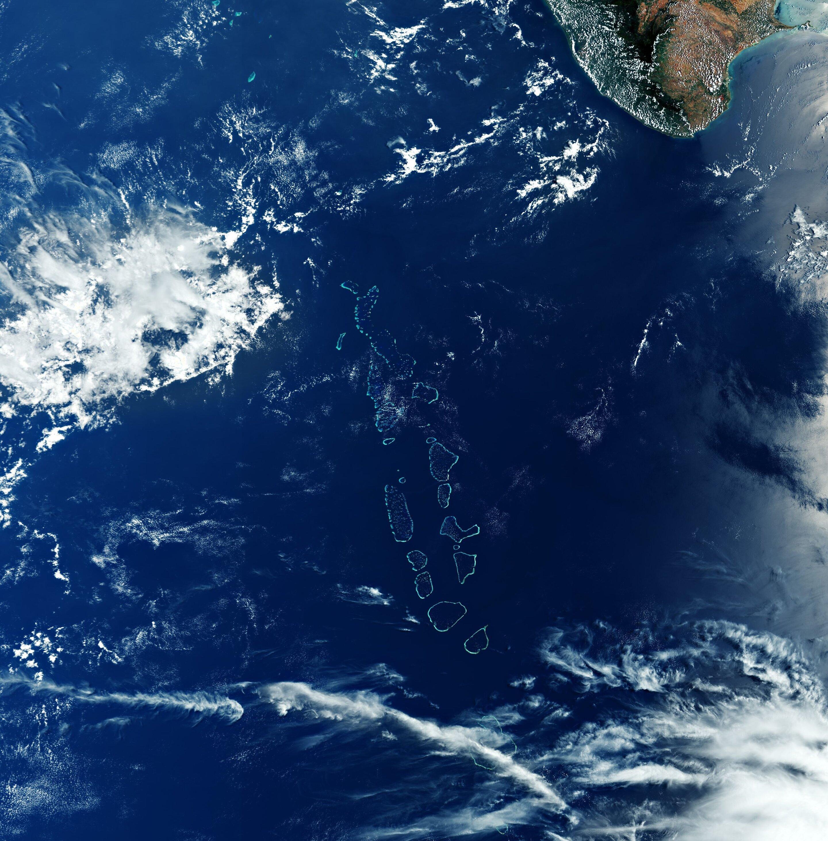 Copernicus captures image of the Republic of Maldives