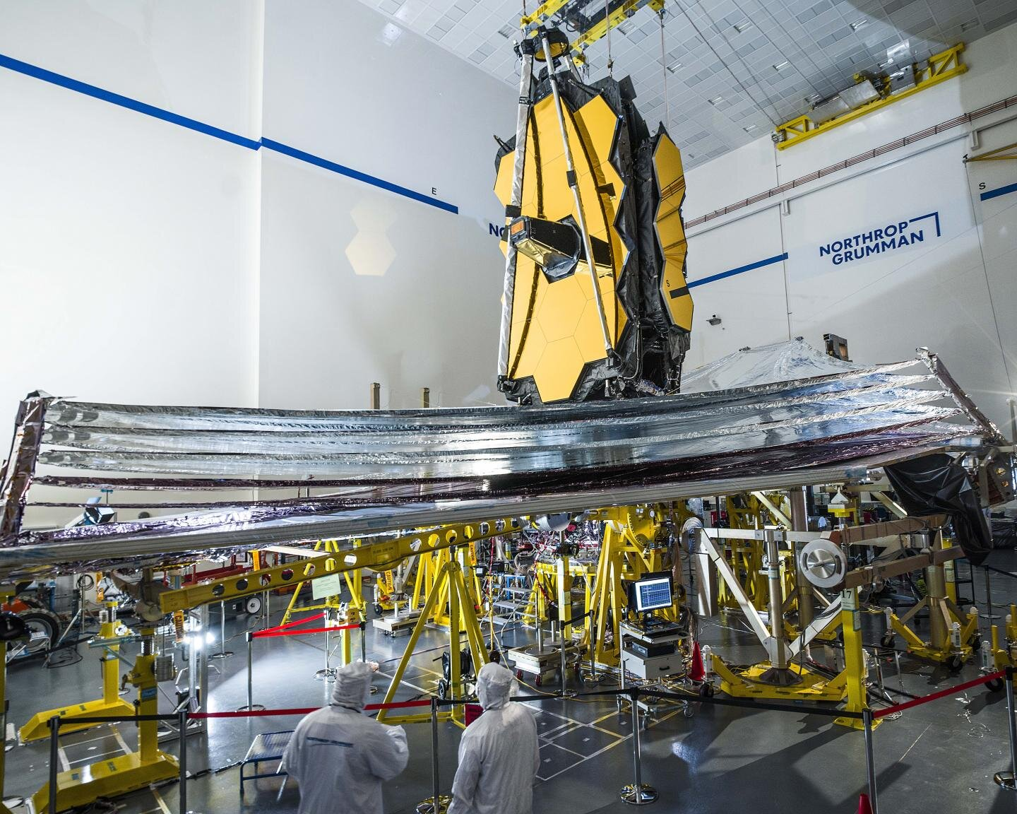 NASA's Webb sunshield successfully unfolds and tensions in final tests