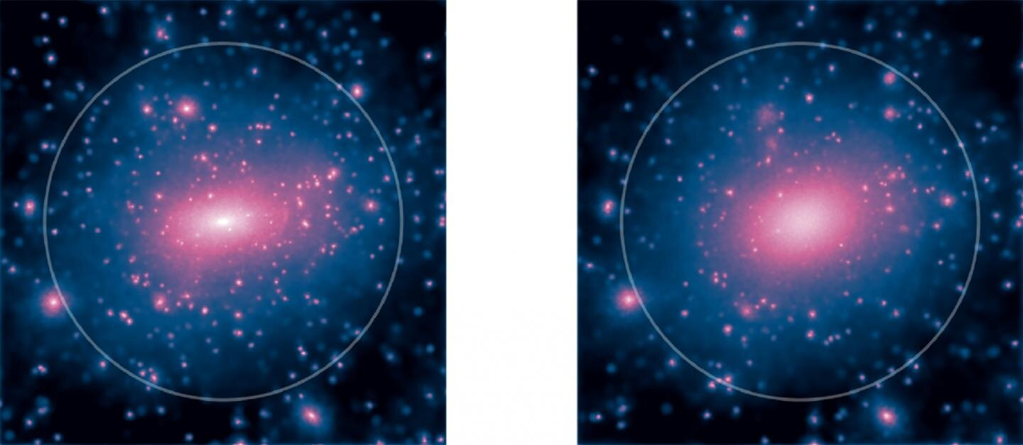 the mystery of how dark matter in galaxies is distributed
