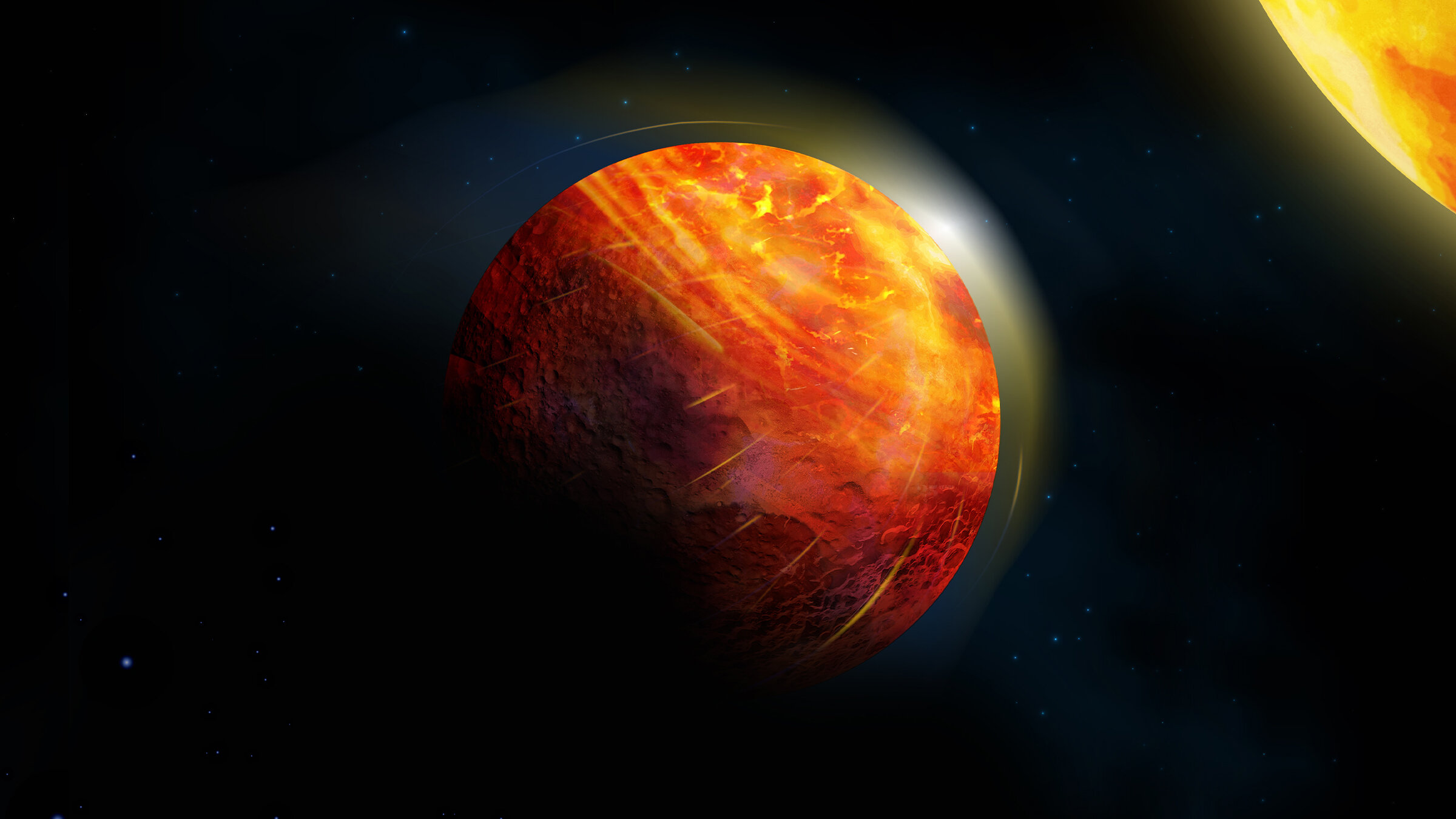 Supersonic winds, rocky rains forecasted on lava planet