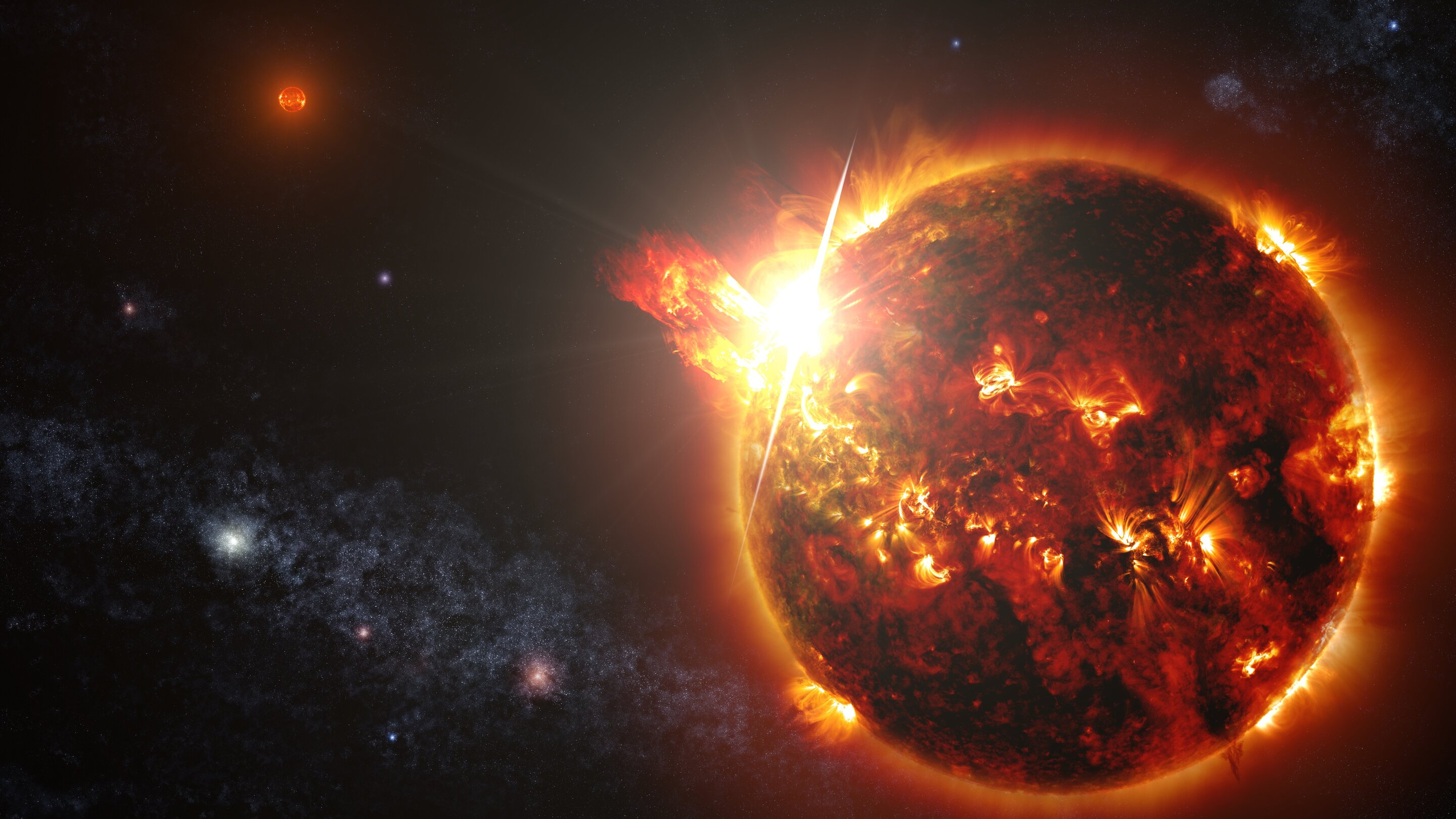 Robust stellar flares might not prevent life on exoplanets, could facilitate its detection