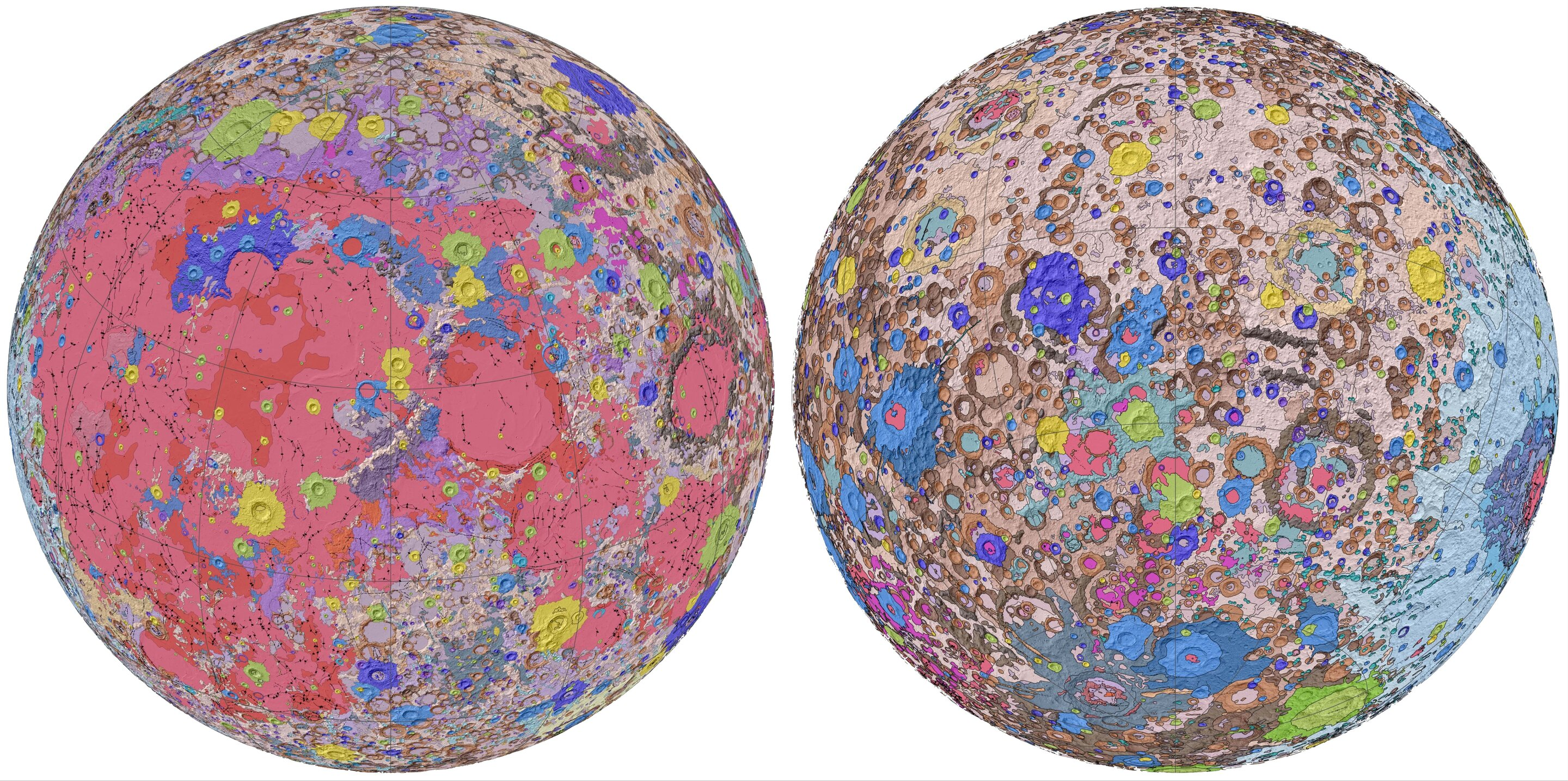 USGS releases first-ever comprehensive geologic map of the Moon