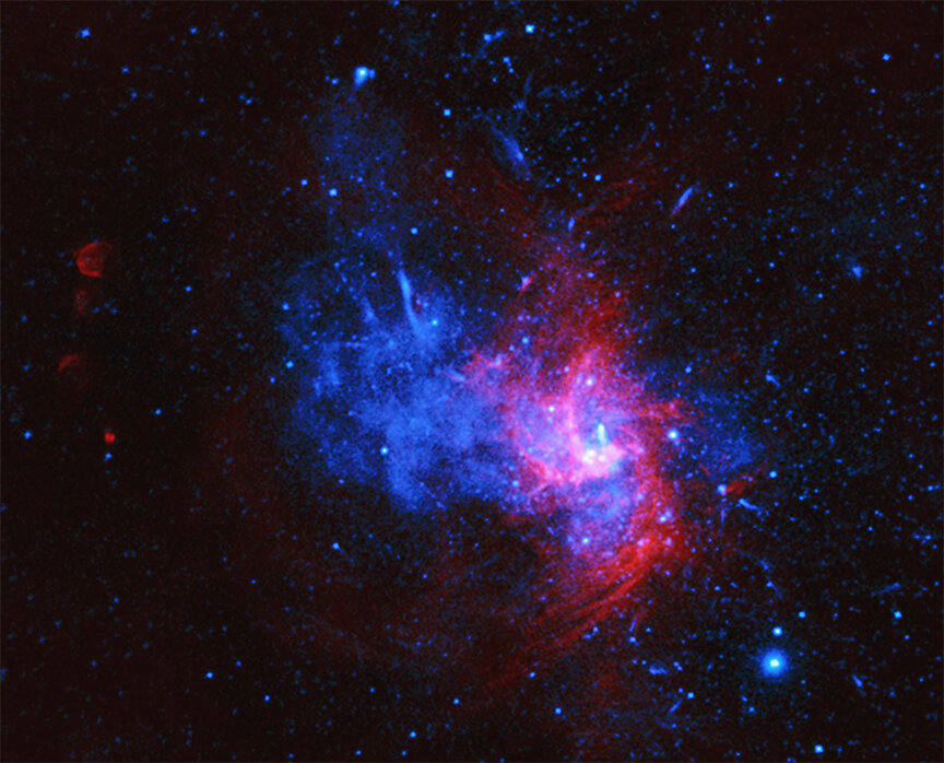 Rare blast's remains discovered in Milky Way's center