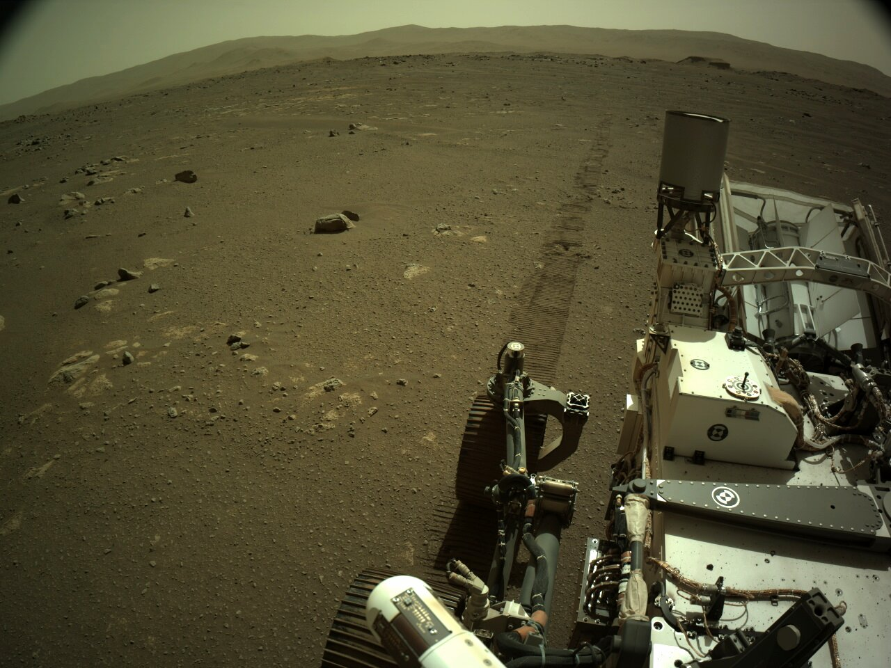Perseverance rover captures the sounds of driving on Mars