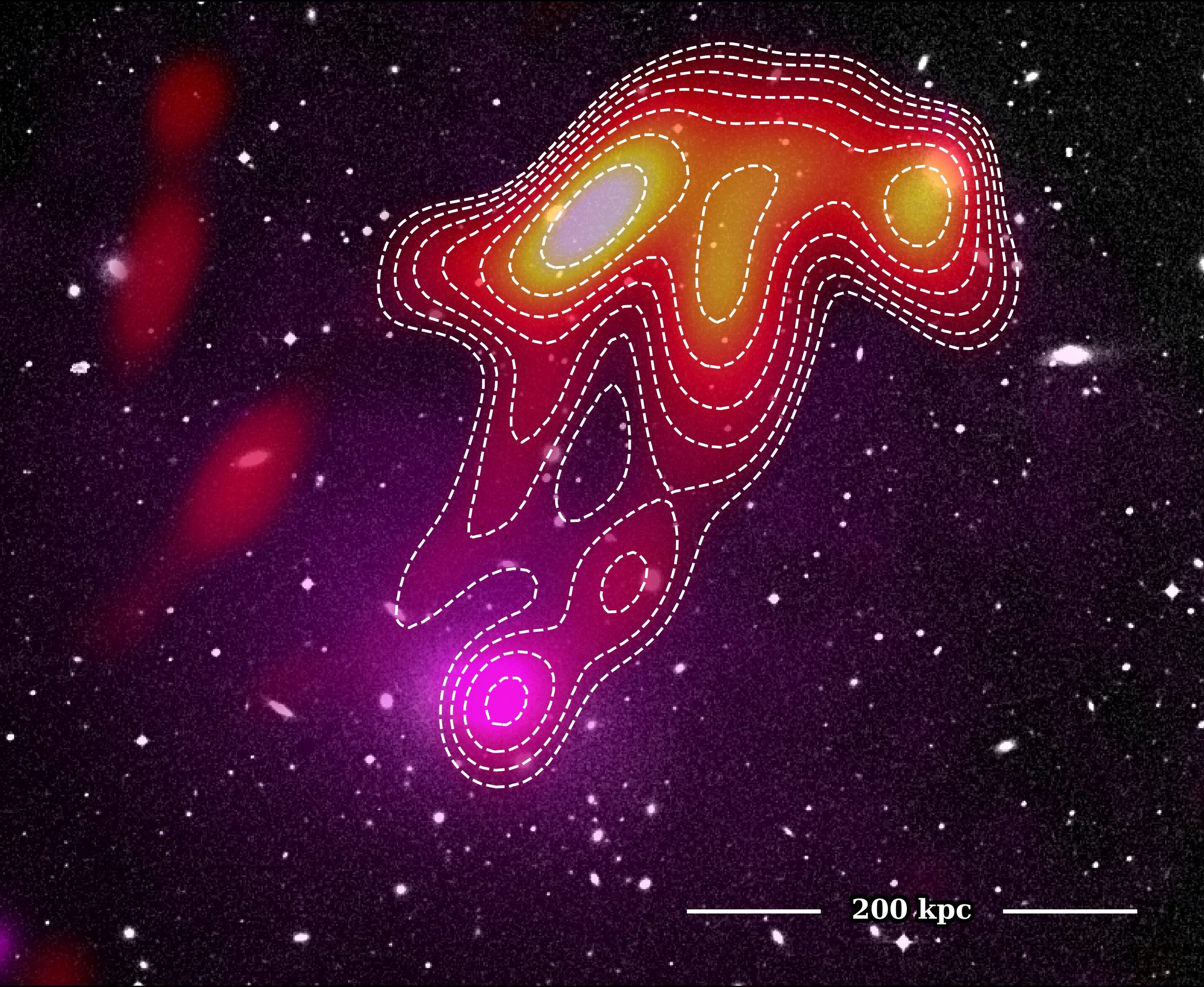 Astronomers spot a 'space jellyfish' in Abell 2877