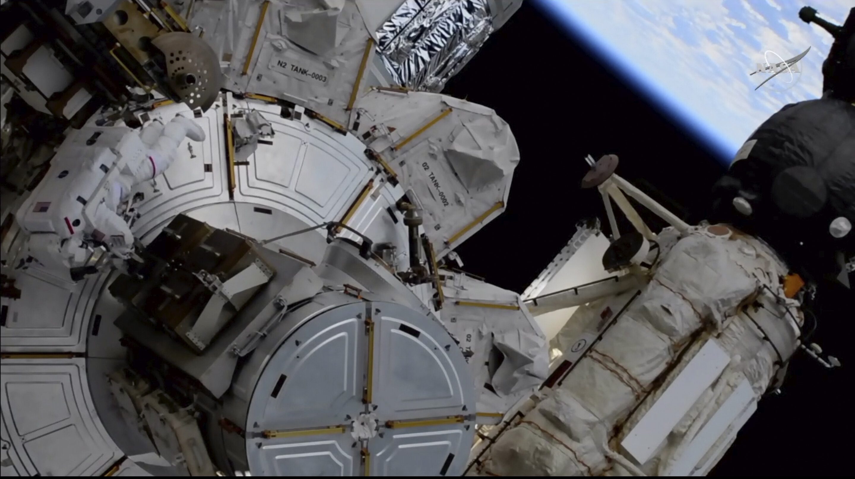 Space astronauts are handling more solar panel previous work