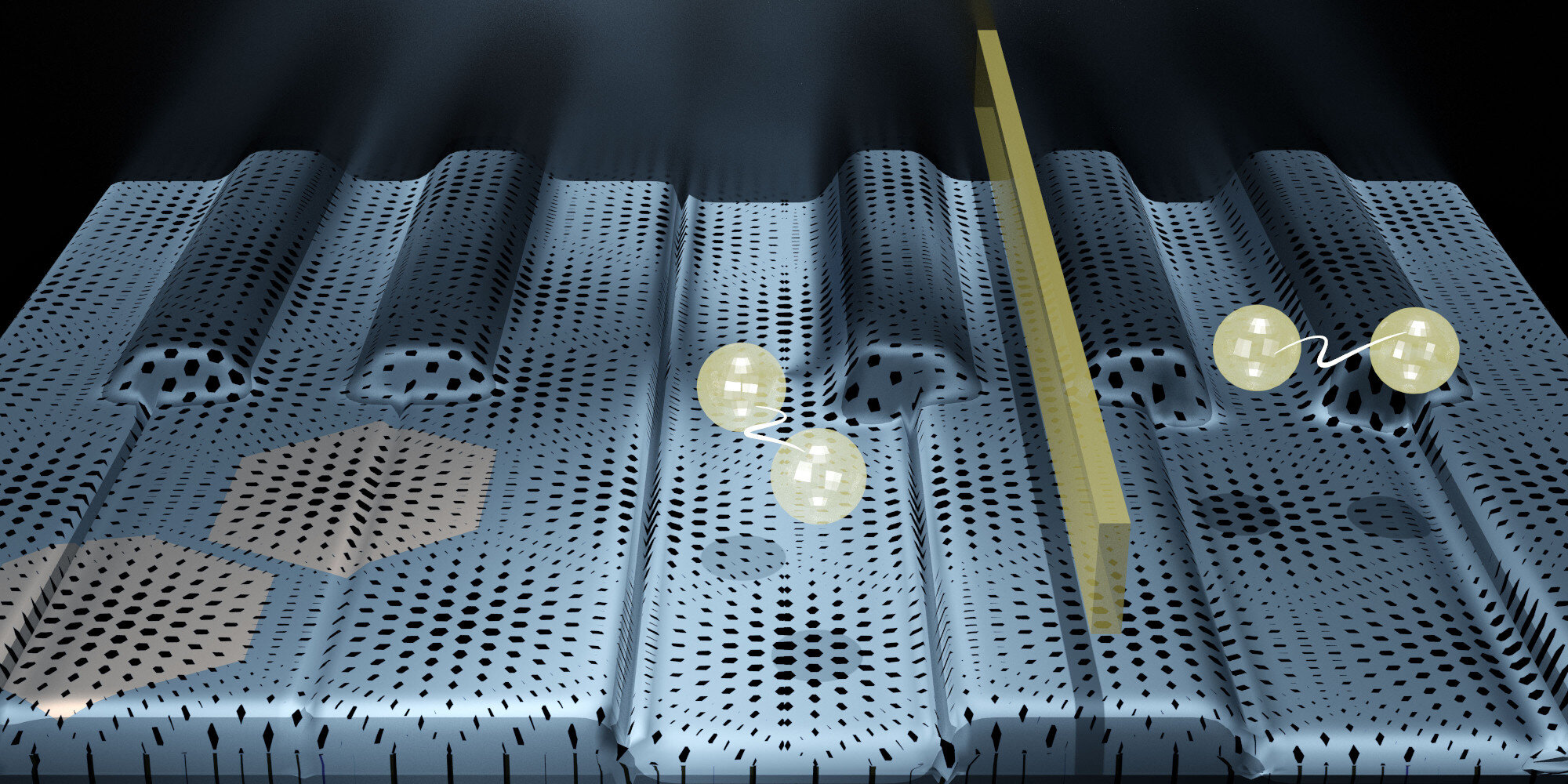 A material keyboard made of graphene