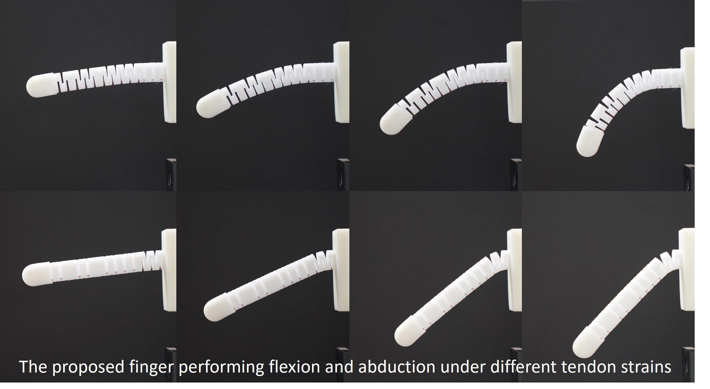 A tactile sensing mechanism for soft robotic fingers