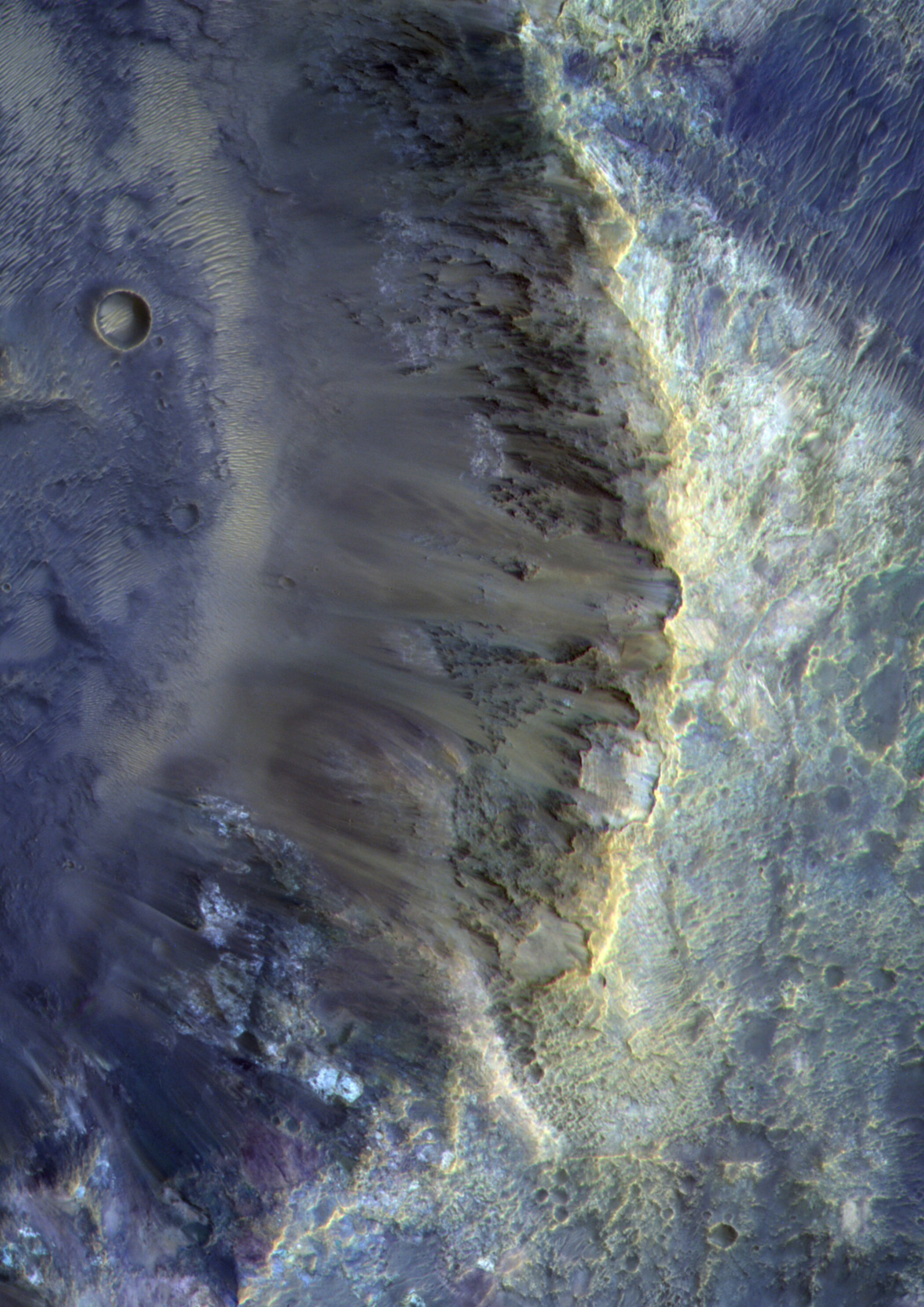 At the rim of a crater