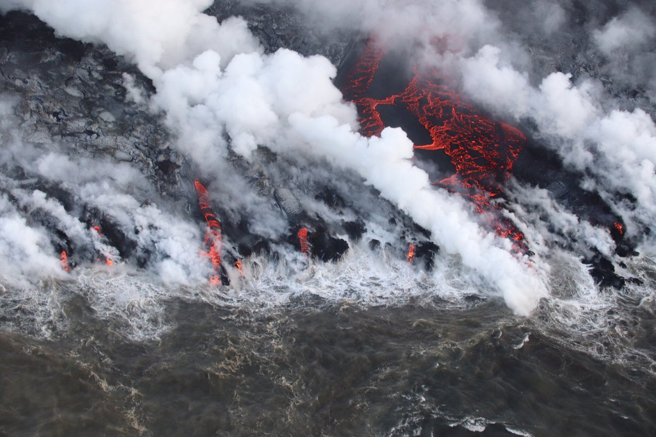 Caldera collapse increases the size and duration of volcanic eruptions