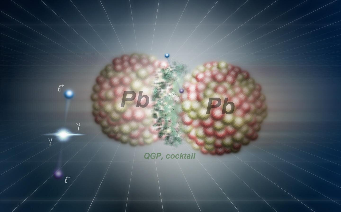 Creation without contact in the collisions of lead and gold nuclei