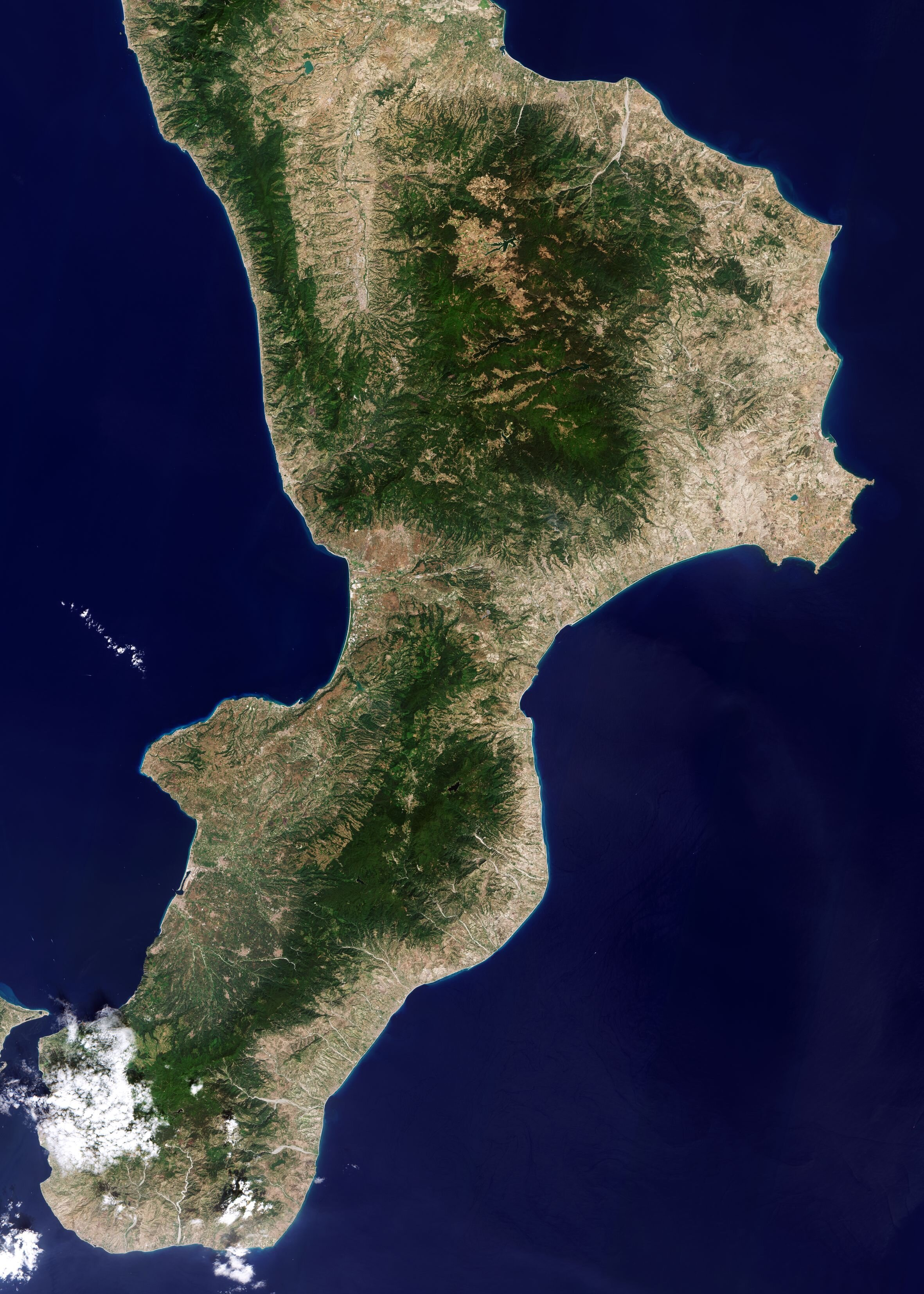 Image: Calabria, Italy, from space