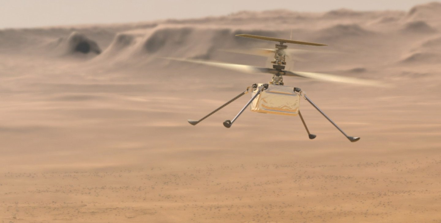 How do you test a helicopter bound for Mars?