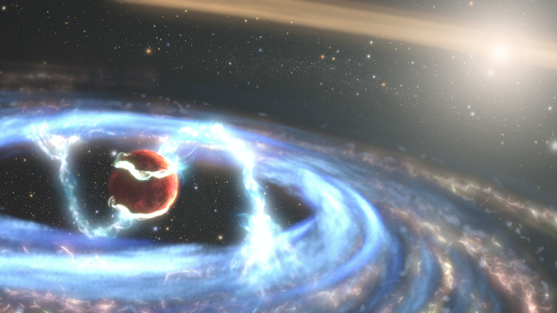 Hubble watches how a giant planet grows