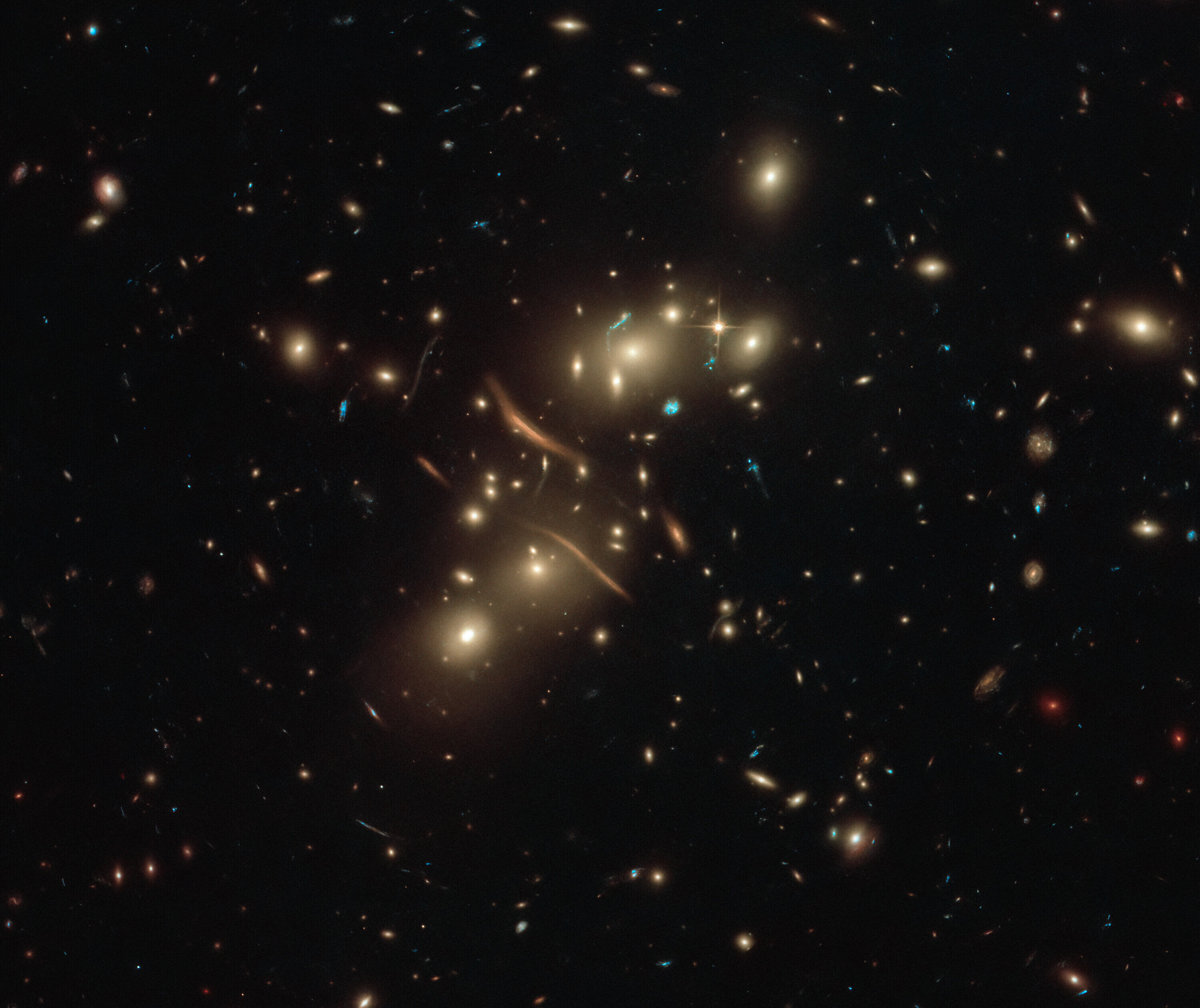 Hubble watches cosmic light bend