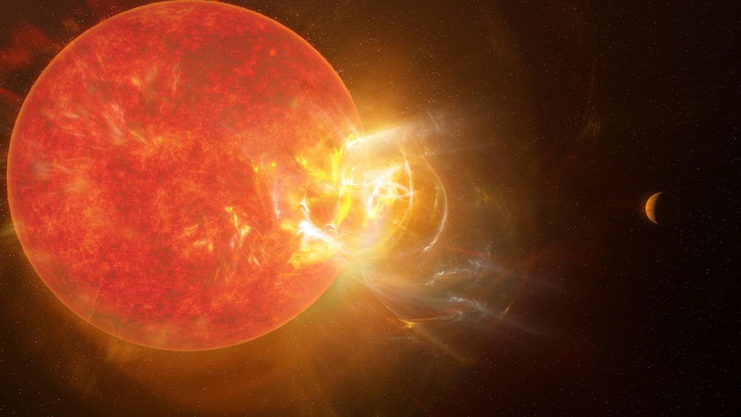 Humungous flare from sun's nearest neighbor breaks records