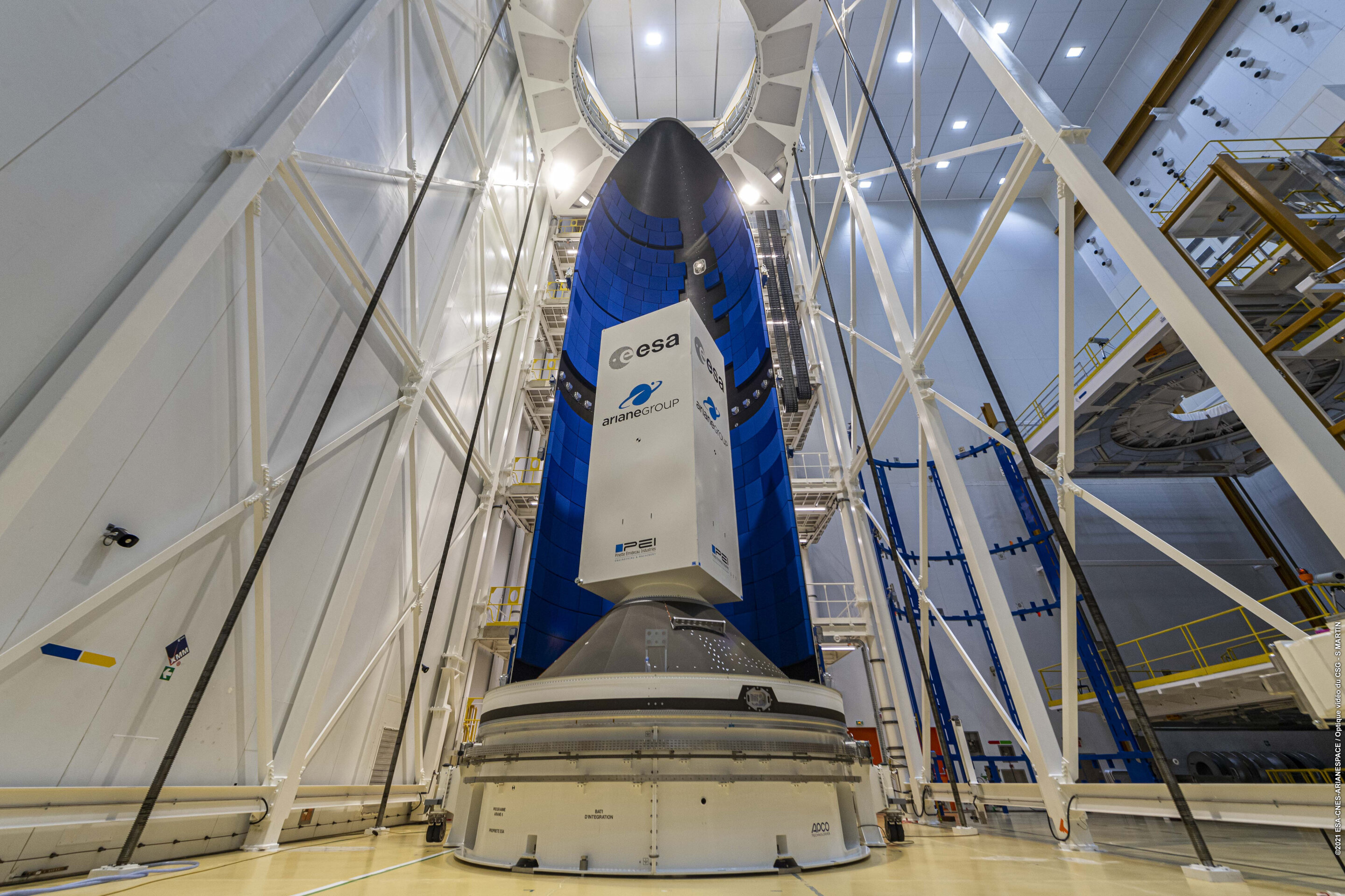First Ariane 6 fairing at Europe's Spaceport in French Guiana