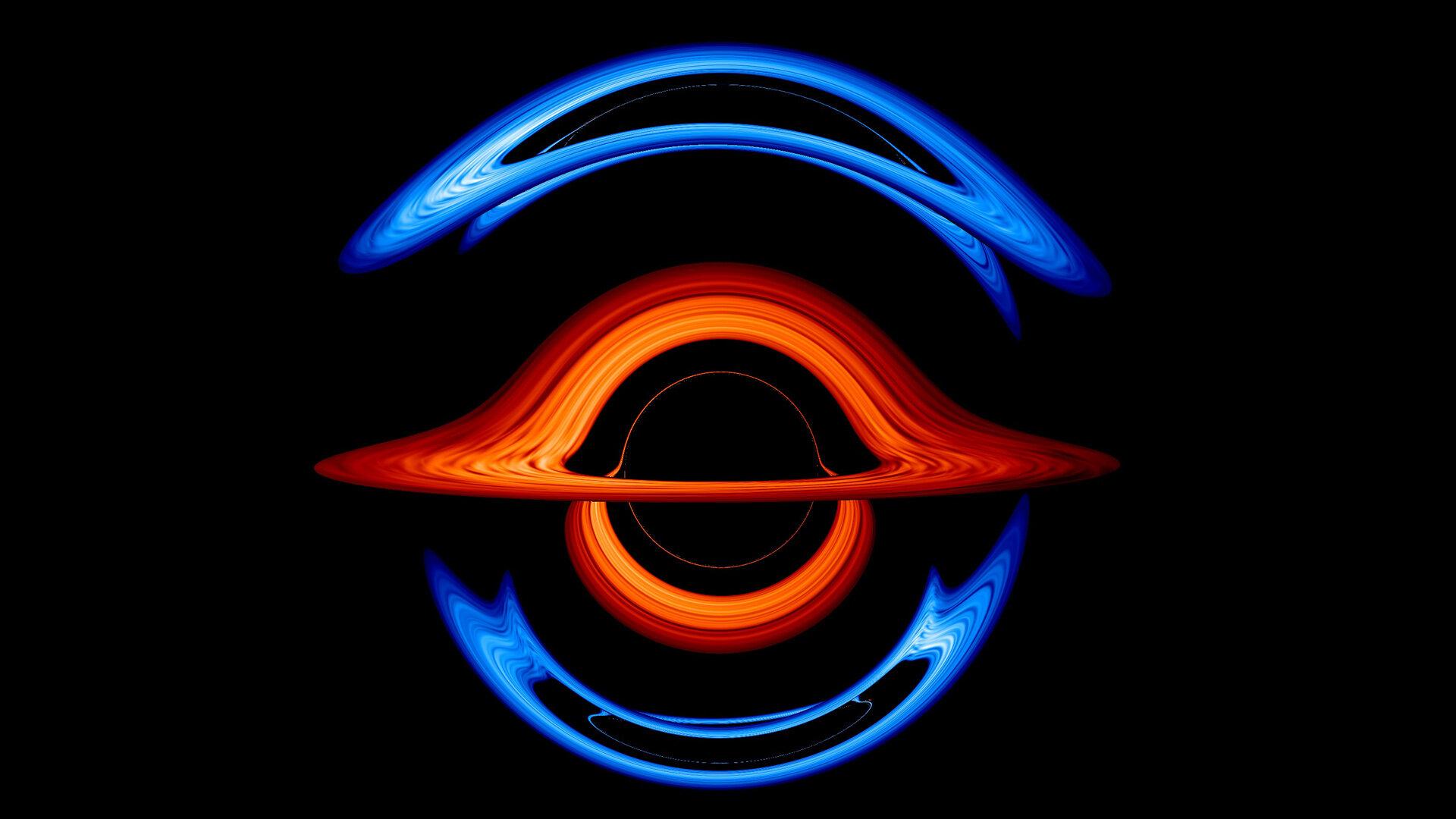 New NASA visualization probes the light-bending dance of binary black holes