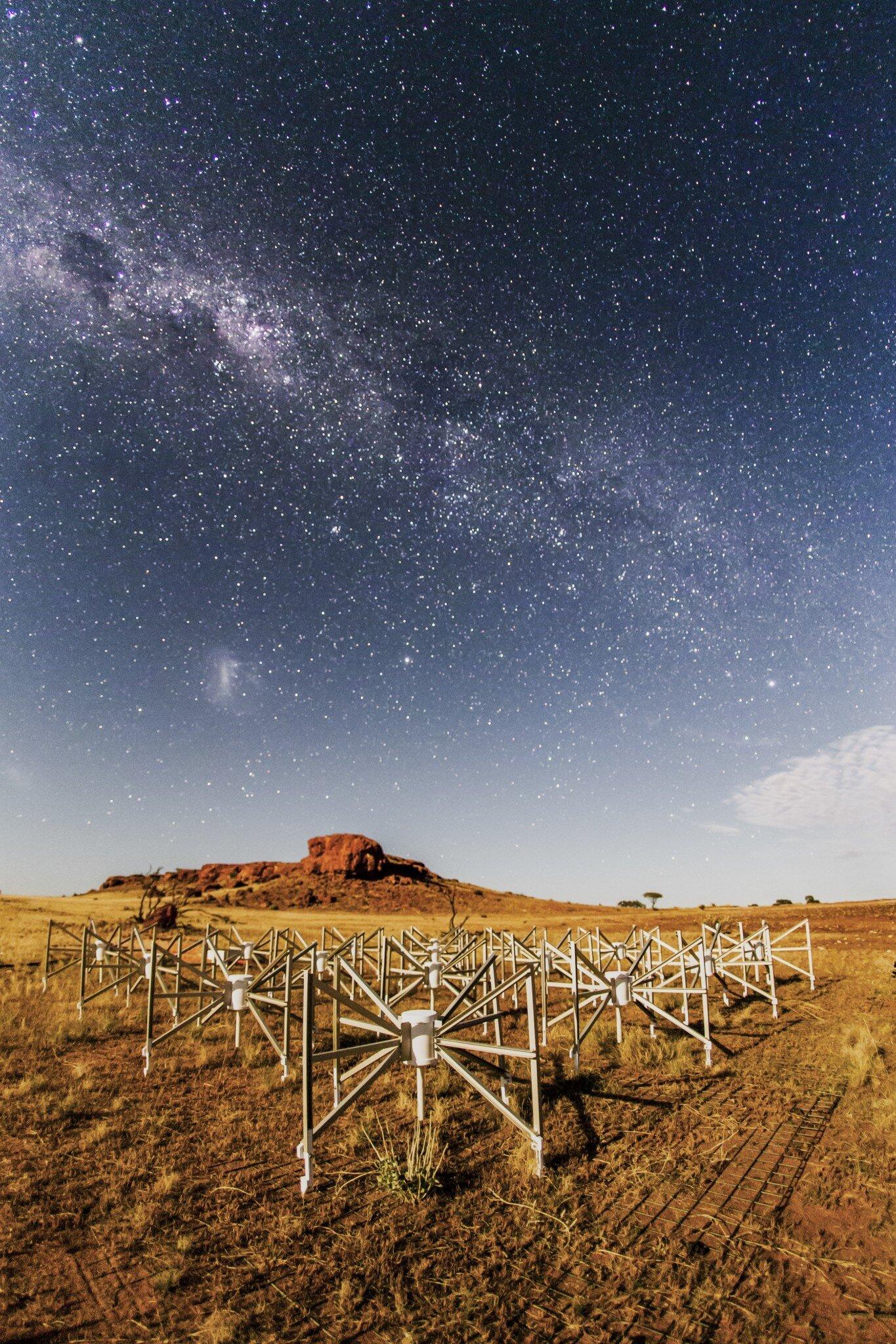 An external radio telescope discovers a dense, spinning, dead star