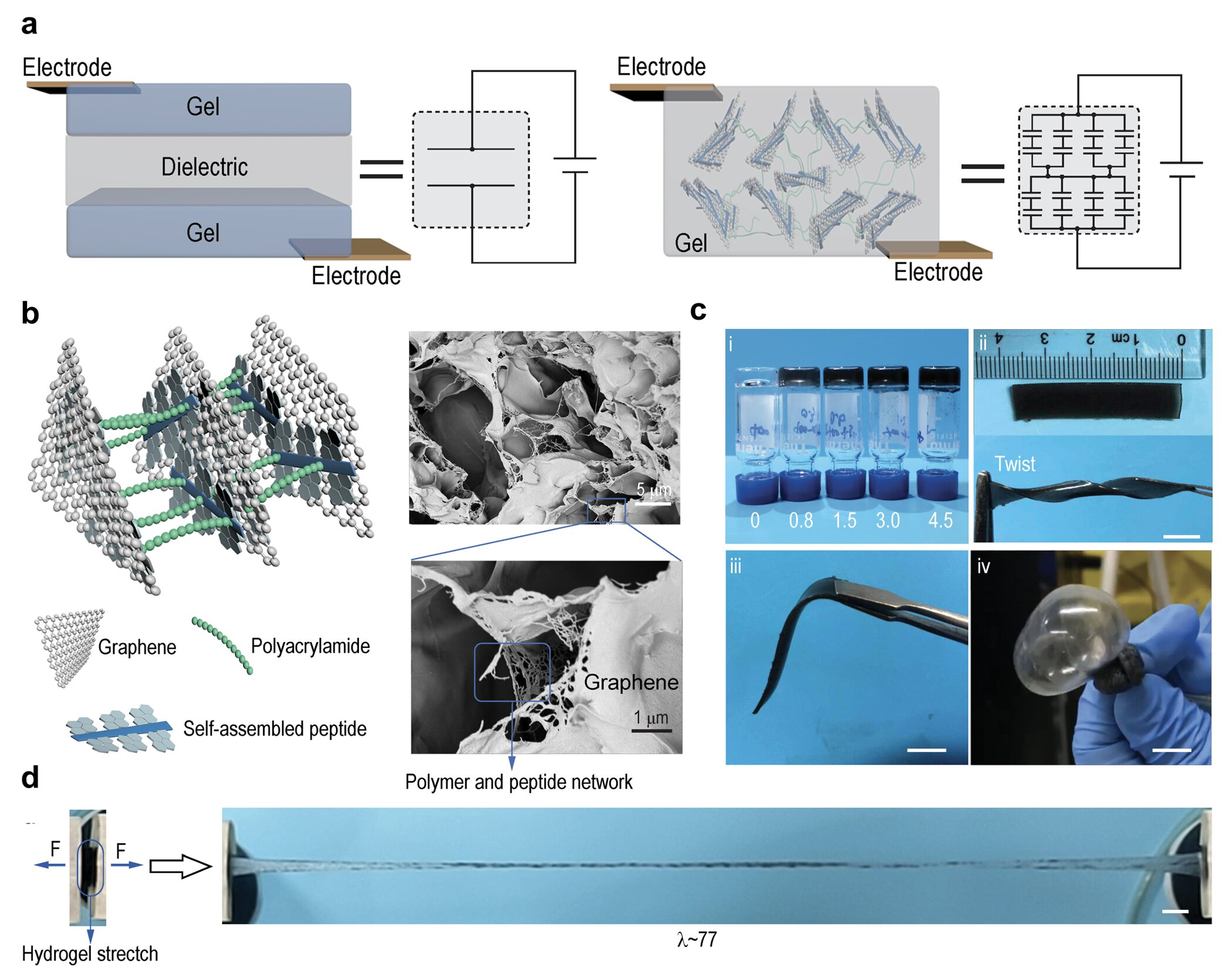 Making stretchable and self-healable hydrogel artificial skin possible