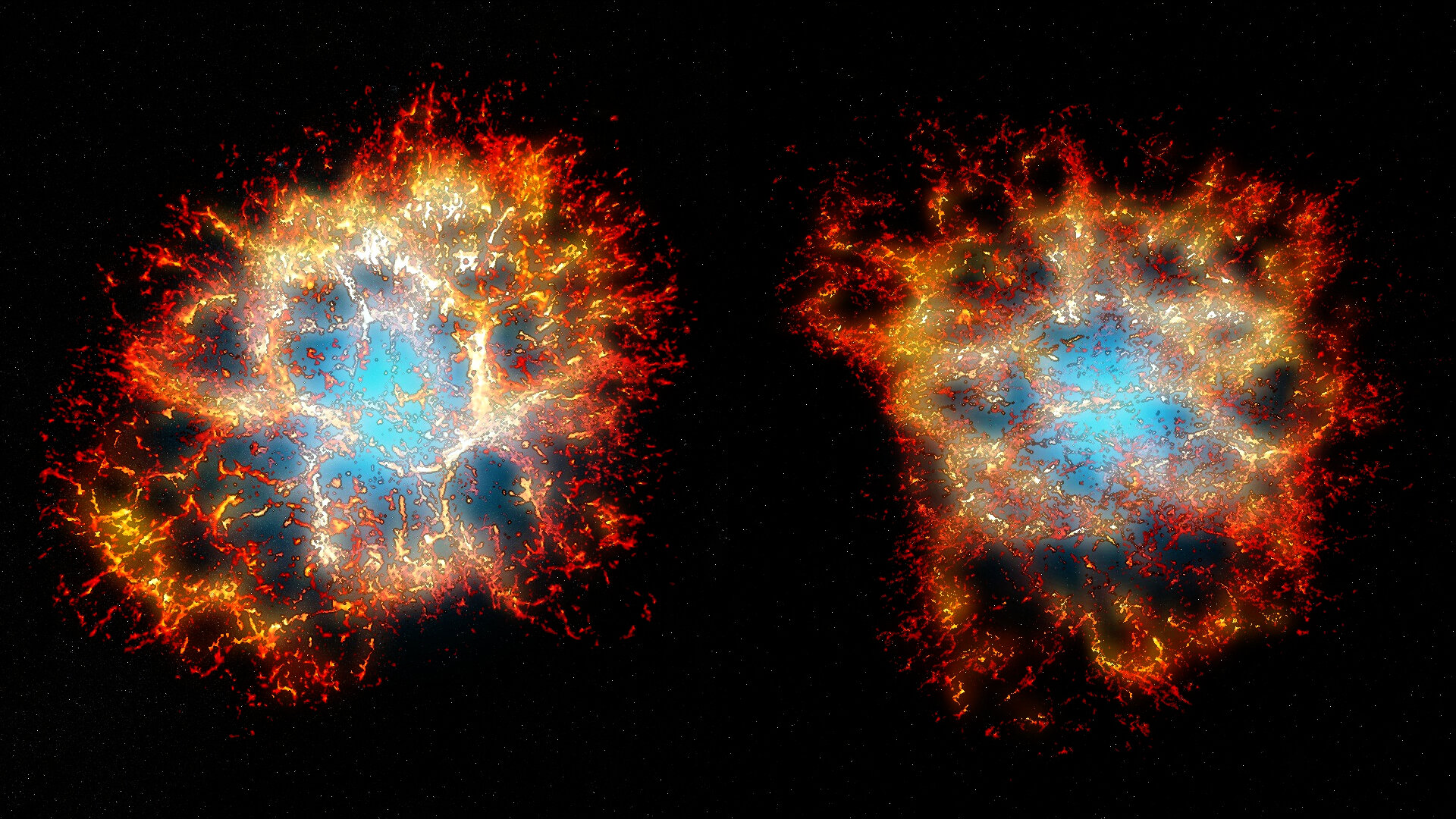 Spectacular 'honeycomb heart' revealed in iconic stellar explosion