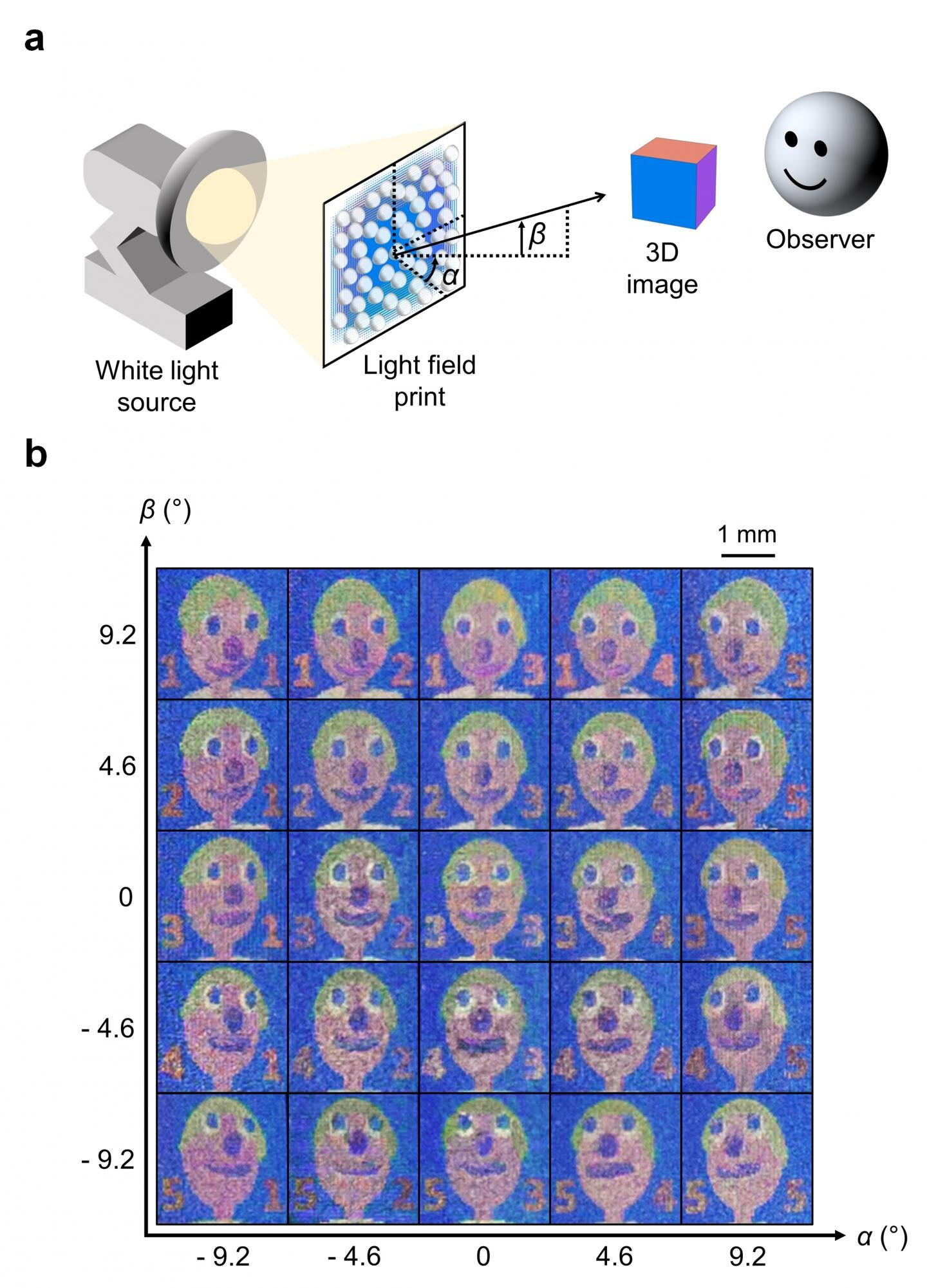 Using nanoscale 3D printing to create high-resolution light field prints