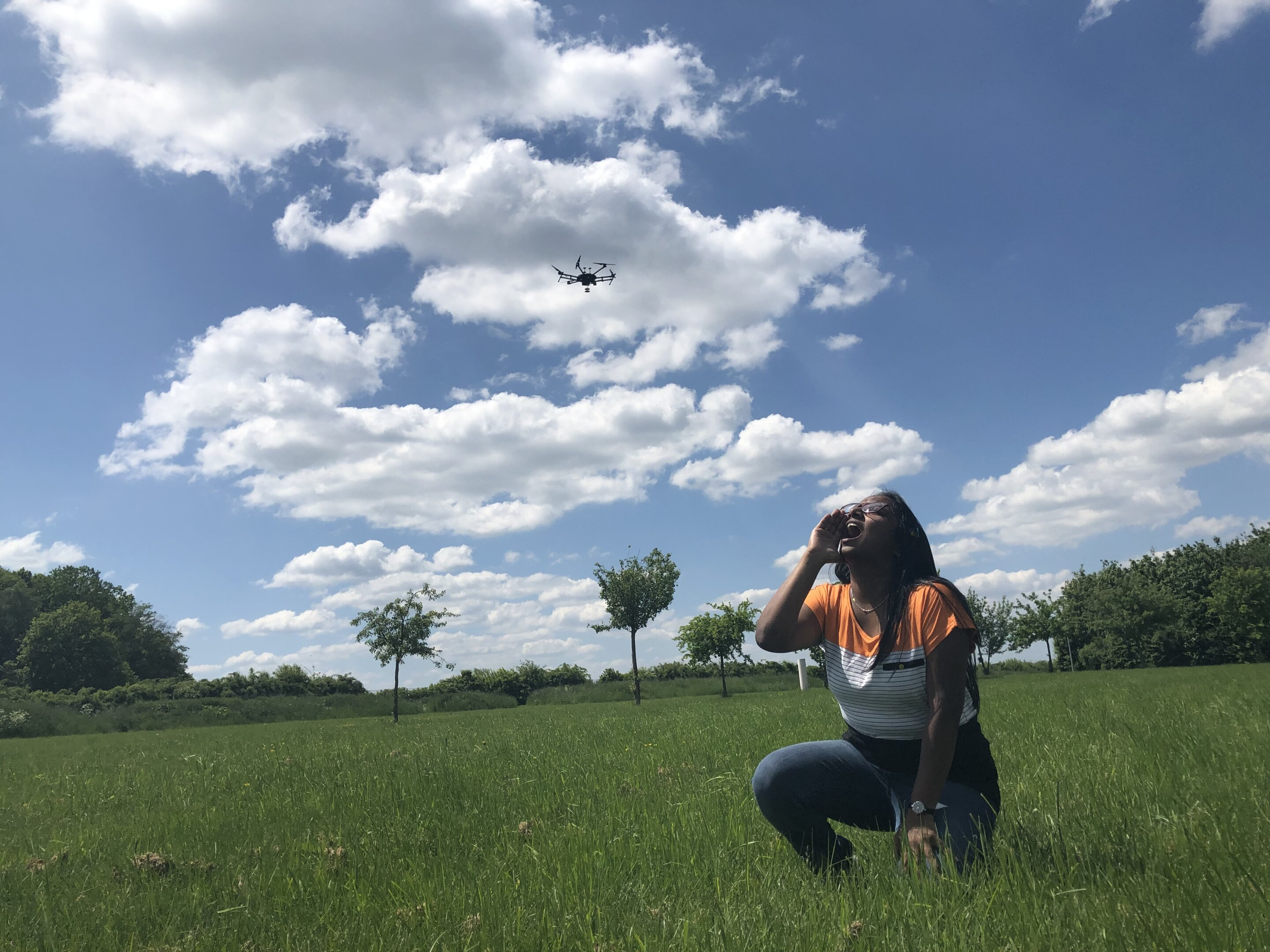 Teaching drones to hear screams from catastrophe victims