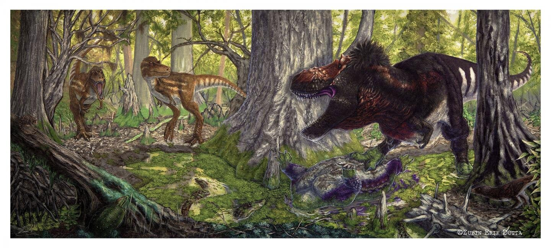 When tyrannosaurs dominated, medium-sized predators disappeared